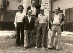 Director y Personal no docente - Ezkerretik eskubira / De izquierda a derecha: Antonio Escudero (Director), Maximino Elorrieta (arriba, atezaina / conserje), Valentín (jardinero), Ángel Martínez (atezaina / conserje), Juan (atezaina / conserje)